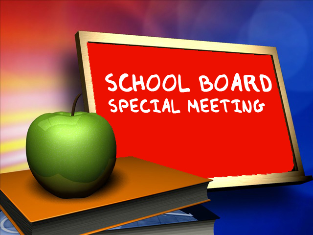 Special BOE Meeting - Wednesday, May 29 @ 5:15 p.m. for the purpose of interviews, bid approval and amended SEQRA resolution.